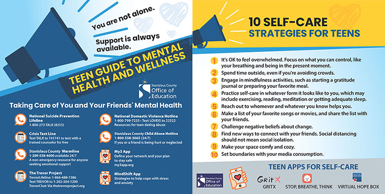 Teen Guide to Mental Health Flyer
