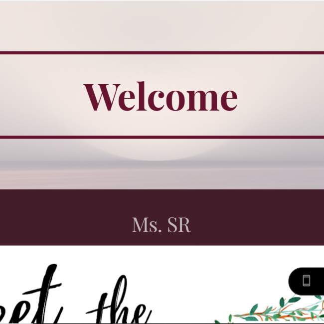 """screenshot of the google class site showing the word """"Welcome"""""""