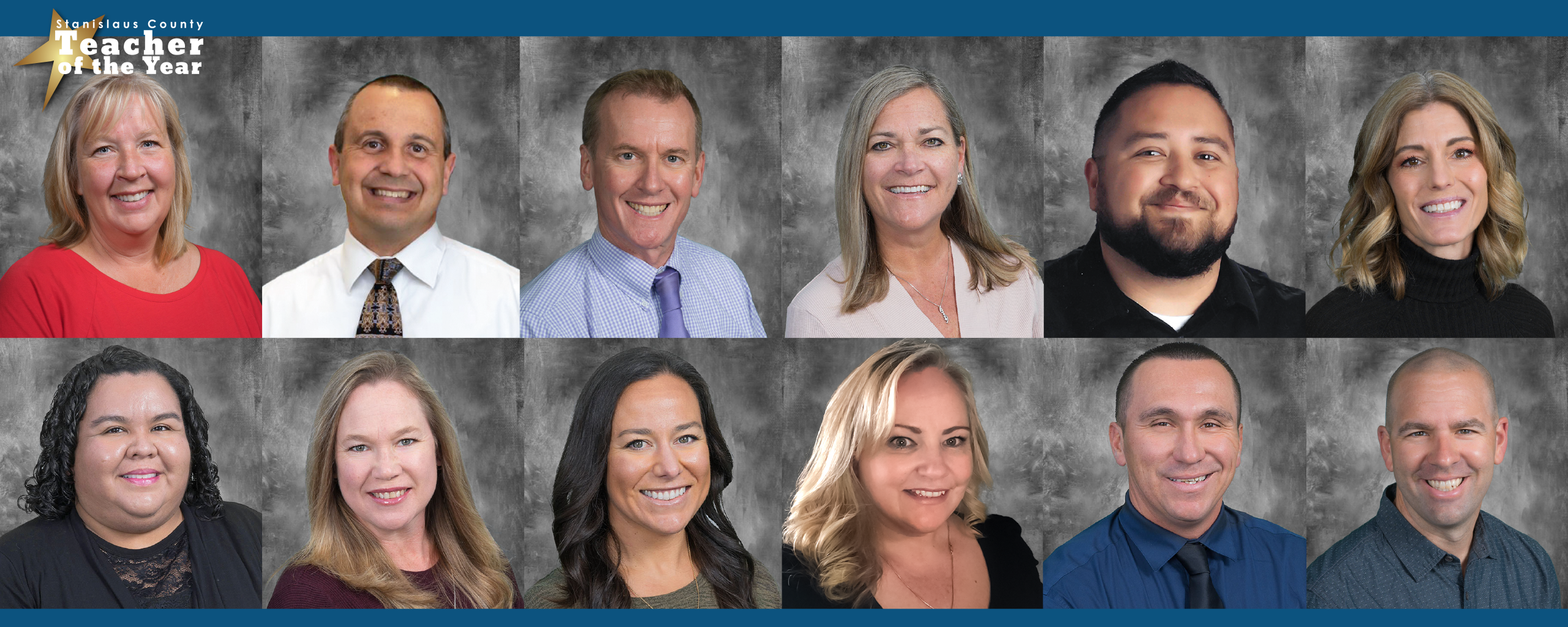 Teacher of the Year nominees, showing twelve headshots