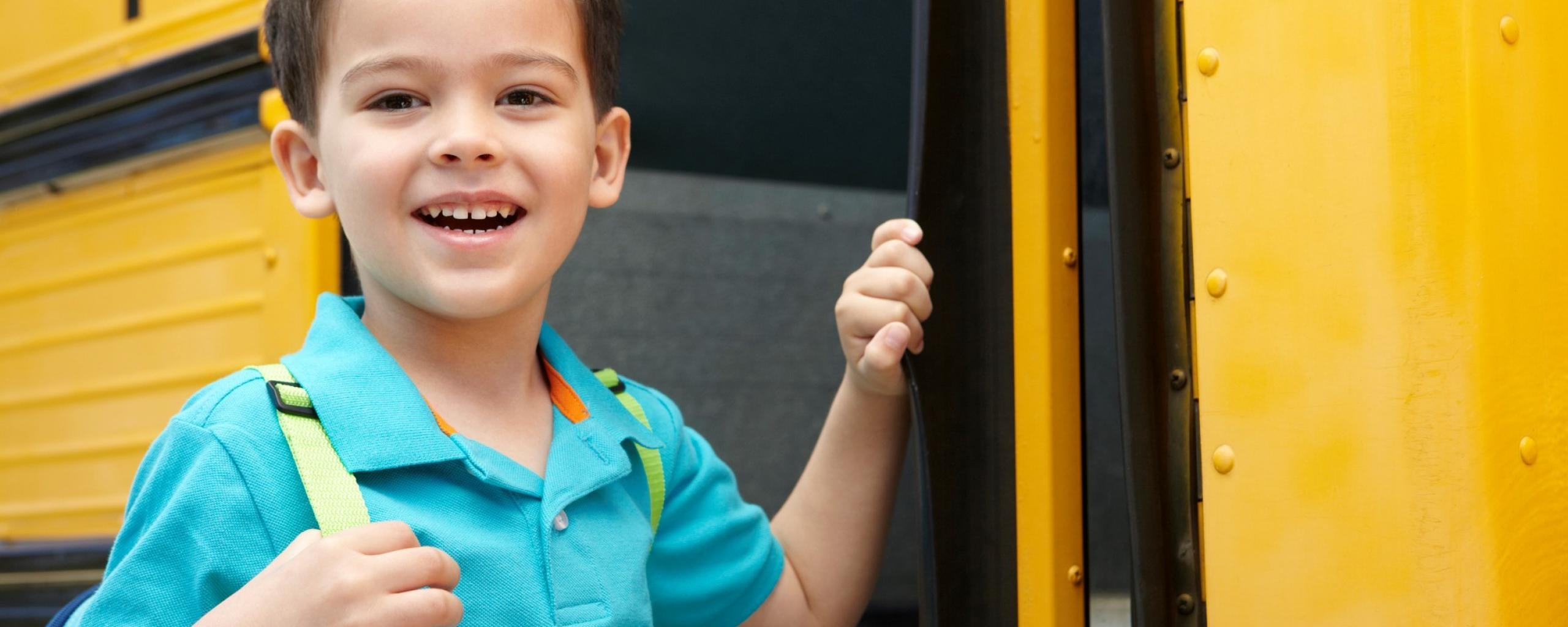 student boarding school bus