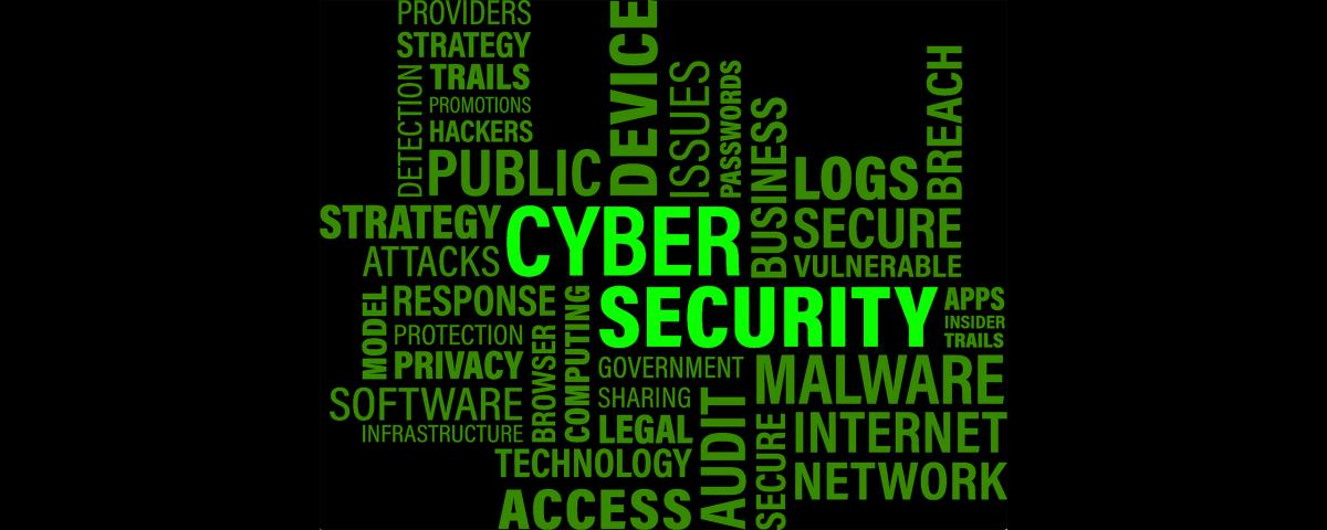 Cyber Word Cloud - showing words associated with cyber security