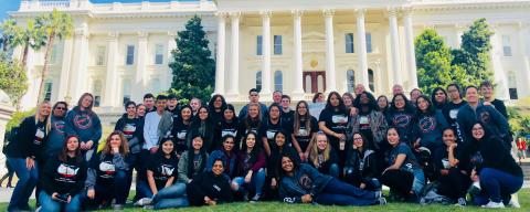 PHAST High School students in front of the State Capitol