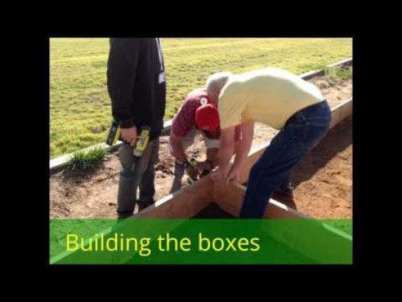 Slide show of the green house and raised beds being constructed
