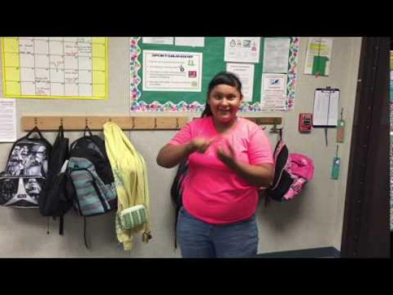 Student: Ruby Ochoa, Deaf and Hard of Hearing Special Day Class.