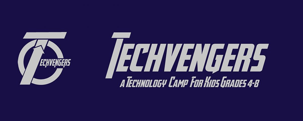 techvengers logo with a capital t that looks like the Avengers Logo
